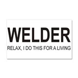 Welder Car Magnet 20 x 12