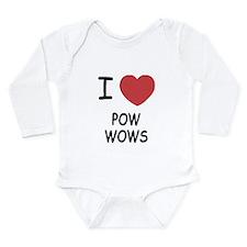 I heart pow wows Long Sleeve Infant Bodysuit