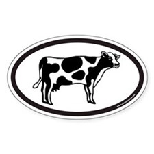 Dairy Cow Euro Oval Decal