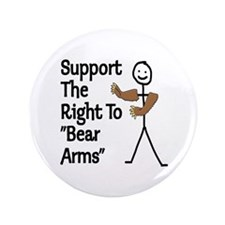 """Support The Right to """"Bear Arms"""" 3.5"""" Button (100"""