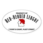 Red-Headed League Sticker (Oval)