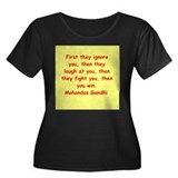 gandhi quote Women's Plus Size Scoop Neck Dark T-S