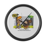 Tarzan MD - Smoking Twigs Large Wall Clock