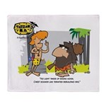 Tarzan MD - Smoking Twigs Throw Blanket
