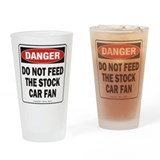 Stock Car Fan Drinking Glass