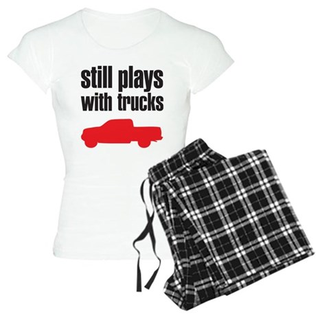 Still plays with trucks Women's Light Pajamas