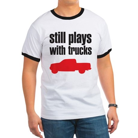 Still plays with trucks Ringer T