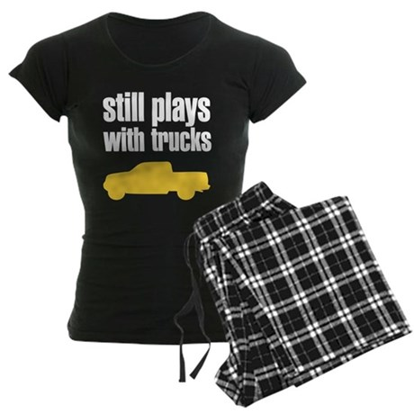 Still plays with trucks Women's Dark Pajamas