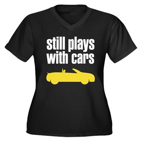 still plays with cars Women's Plus Size V-Neck Dar