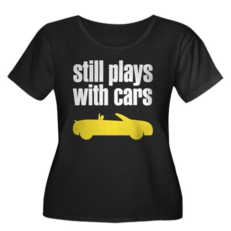 still plays with cars Women's Plus Size Scoop Neck