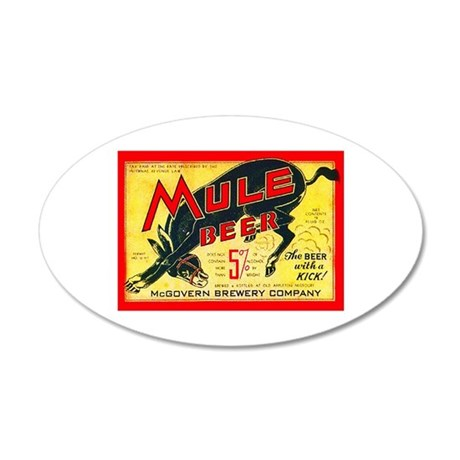 Missouri Beer Label 2 38.5 x 24.5 Oval Wall Peel