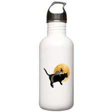 Witch Squirrel Cat Water Bottle