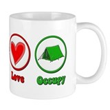 Peace Love Occupy Protest Coffee Mug