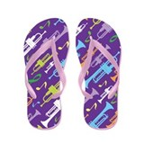 Funny Trumpet Flip Flops
