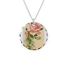 Pink Rose Victorian Flower Vi Necklace
