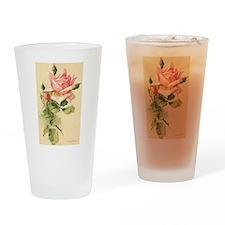 Pink Rose Victorian Flower Vi Drinking Glass