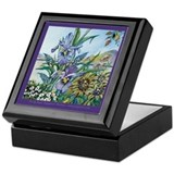 Double Iris Keepsake Box
