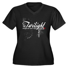 Twilight Saga Women's Plus Size V-Neck Dark T-Shir