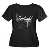 Twilight Saga Women's Plus Size Scoop Neck Dark T-