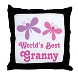 Best Granny Butterfly Throw Pillow