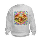 Party Time Chicks Kids Sweatshirt