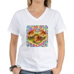 Party Time Chicks Women's V-Neck T-Shirt