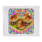 Party Time Chicks Throw Blanket