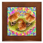Party Time Chicks Framed Tile