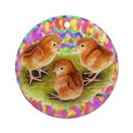 Party Time Chicks Ornament (Round)