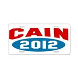 Cain 2012 Aluminum License Plate