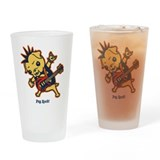 Pug Rocker Drinking Glass