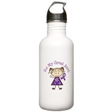 Alzheimers Support Great Aunt Water Bottle