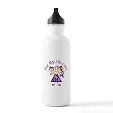 Alzheimers Support Grandpa Water Bottle