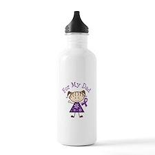 Alzheimers Support Dad Water Bottle