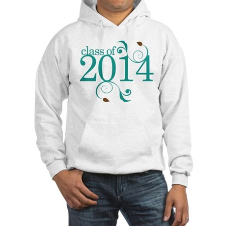Class of 2014 Elegant Hooded Sweatshirt