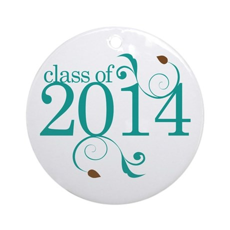 Class of 2014 Elegant Ornament (Round)