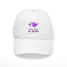 I Wear Purple For My Dad Baseball Cap