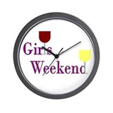 Girls Weekend Wine Wall Clock