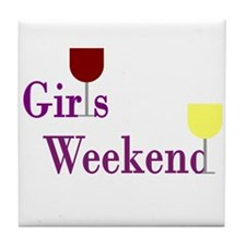 Girls Weekend Wine Tile Coaster