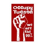 Occupy Tucson bumper sticker with fist