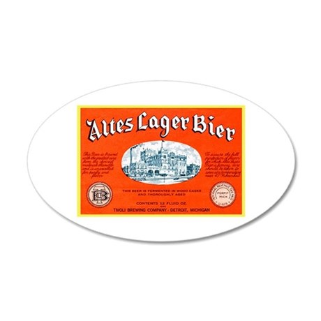 Michigan Beer Label 12 38.5 x 24.5 Oval Wall Peel