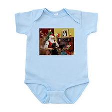 Santa's Poodle (ST-B4) Infant Bodysuit