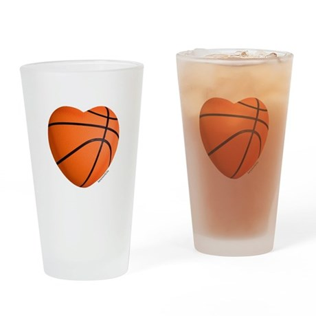 Basketball Love Drinking Glass