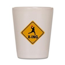 Dodgeball X-ing Shot Glass
