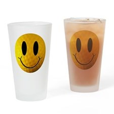 Golf Smiley Drinking Glass