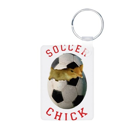 Soccer Chick 2 Aluminum Photo Keychain