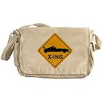 Race Car X-ing Messenger Bag