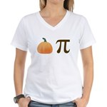 Pumpkin Pi Pie Women's V-Neck T-Shirt