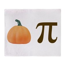 Pumpkin Pi Pie Throw Blanket