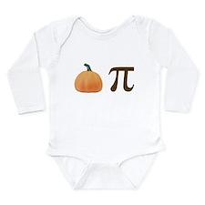 Pumpkin Pi Pie Long Sleeve Infant Bodysuit